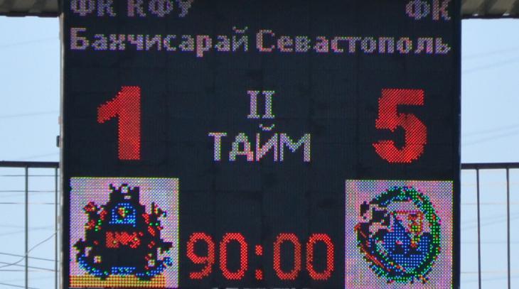 ПЛ КФС. 20-й тур. КФУ-Бахчисарай - Севастополь