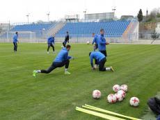 Тренировка ФК «Севастополь» перед матчем с «Евпаторией»
